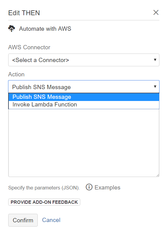 Automate with AWS then action