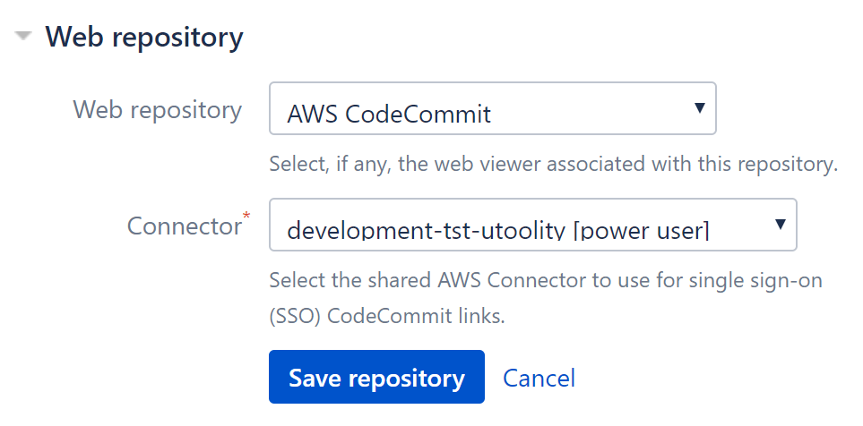 AWS CodeCommit web repository viewer